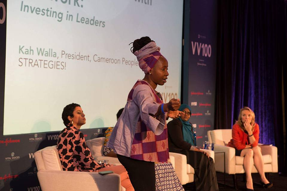 Kah Walla Speaks on Investing in Women Leaders at the Vital Voices VV100 Conference